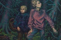 Дети в лесу (портрет сыновей)