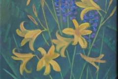 Люпины и жёлтые цветы