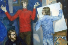 Портрет композитора Завещевского, художника Алексеева и актера Матвеева